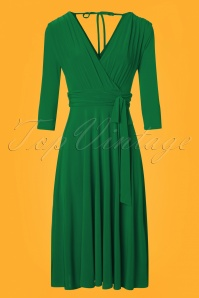 Vintage Chic 3 4 Sleeve Green Dress 102 40 24518 20180216 0002e