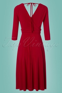 Vintage Chic 3 4 Sleeve Red Dress 102 20 24517 20180216 0008w
