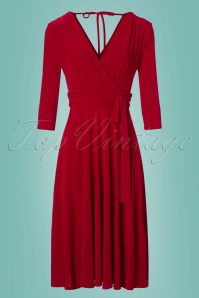 50s Lenora Midi Dress in Lipstick Red