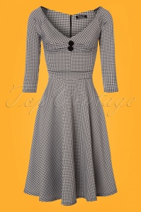 Vintage Chic Jacquard Gingham Jersey Dress 102 14 24495 20180216 0001w