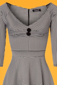Vintage Chic Jacquard Gingham Jersey Dress 102 14 24495 20180216 0001c