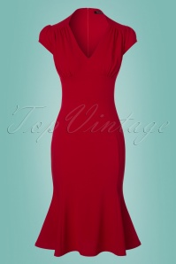 Vintage Chic Red Wrap Dress 100 20 24511 20180216 0002w