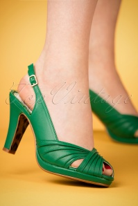 Bettie Page Selene Green Sandals 420 40 23676 07022018 002W