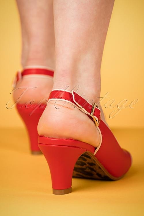 50s Sandales Cara En Rouge co0KJRjvx