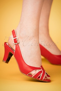 Bettie Page Cara Red Sandals 420 20 23562 07022018 002W