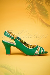 Bettie Page Cara Green Sandals 420 40 23563 14022018 002bW