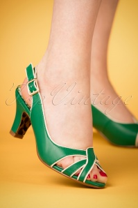 Bettie Page Cara Green Sandals 420 40 23563 07022018 001W