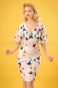 Vintage Chic Cross Bust Floral Dress 100 57 24515 20180216 0006w