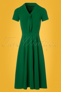 Vintage Chic Front Tie Emerald Dress 102 40 24500 20180216 0002w