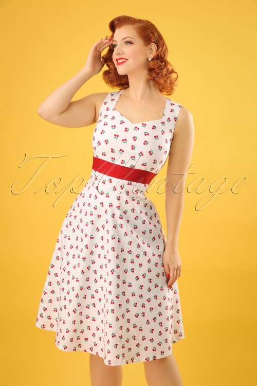 Vintage Chic White Cherry Dress 102 59 22658 20180216 0007w