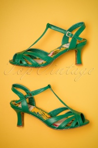 Bettie Page Layla Green Sandals 401 40 23556 14022018 006W