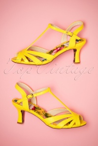 Bettie Page Shoes Layla yellow Sandals 401 80 23557 06022018 013W