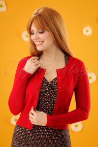 50s Paloma Cardigan in Red