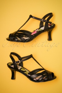 Bettie Page Layla black Sandals 401 10 23558 14022018 008W