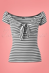 Bunny Dolly Striped Sailor Bow Top 110 27 14658 20150331 0002W