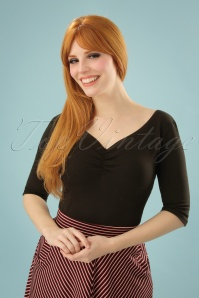 Heart of Haute 50s Terri Top in Black