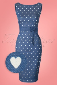 Dancing Days By Banned  Judy Dress in Denim Hearts 100 39 17852 20160330 0008W1