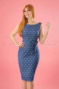 Dancing Days By Banned  Judy Dress in Denim Hearts 100 39 17852 20160330 0008W (2)