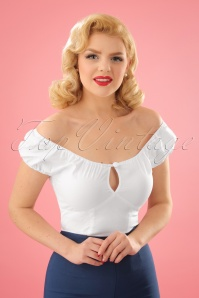 50s Melissa Top in White
