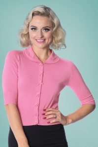 Dancing Days by Banned April Short Sleeves Cardigan in Pink 24295 20160922 05