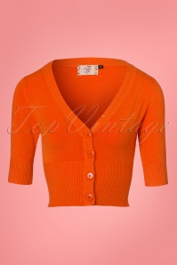50s Overload Cardigan in Orange