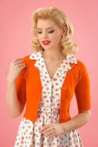 50s Overload Cardigan in Orange