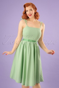 50s Make A Wish Swing Dress in Green