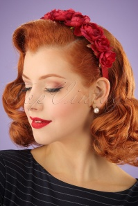 Collectif Red Rose Headband 200 20 24369 03032014 001W