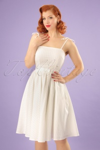 50s Make A Wish Swing Dress in Ivory