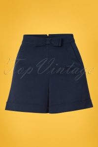 50s Betsey Shorts in Navy
