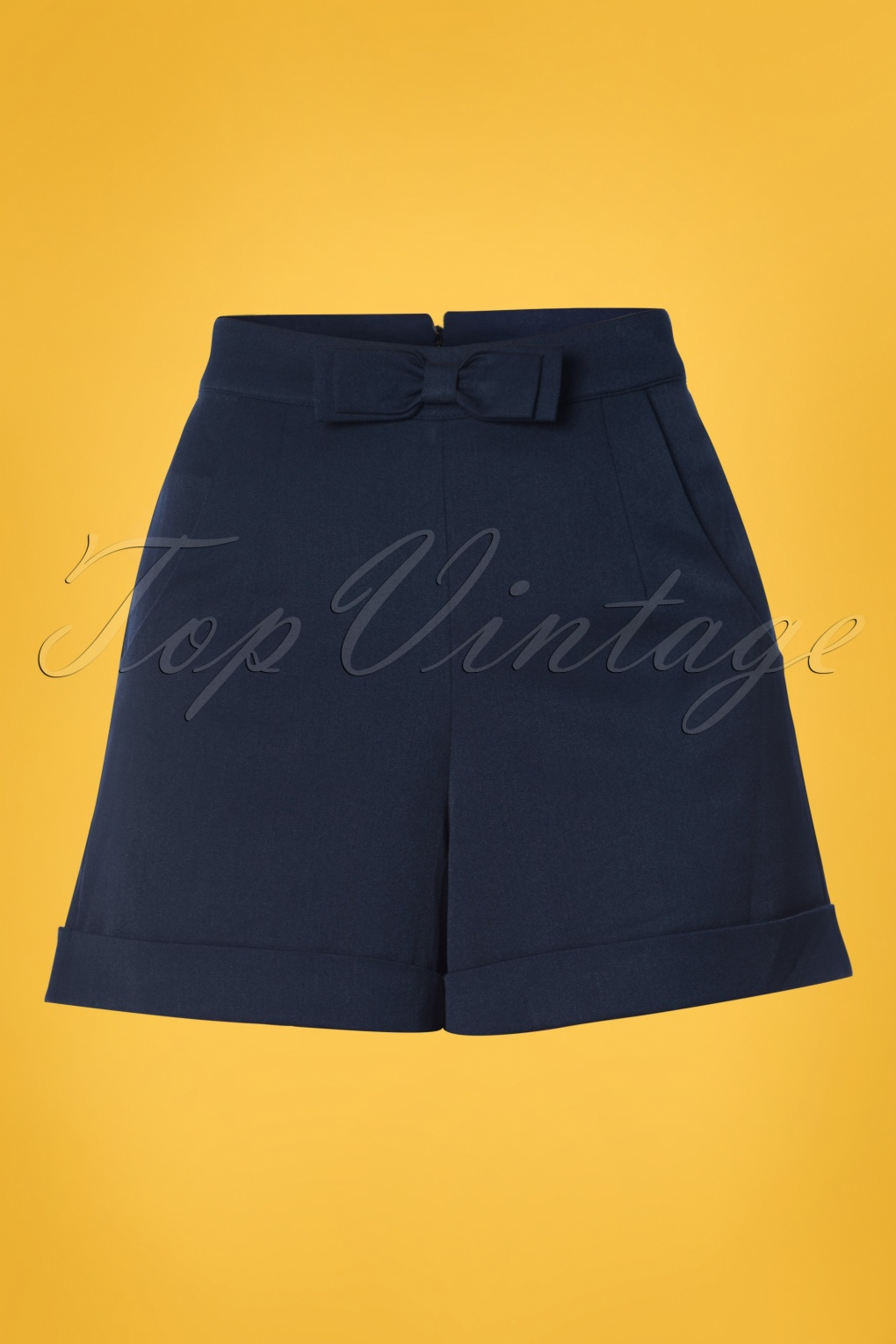 Vintage High Waisted Shorts | 1950s Pinup, Rockabilly Shorts 50s Betsey Shorts in Navy £33.73 AT vintagedancer.com
