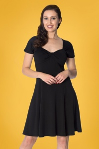 60s It's the Twist Dress in Black