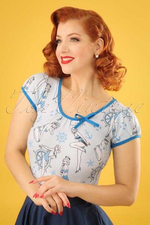 Sassy Sally Blue Sailor T Shirt 24536 01W
