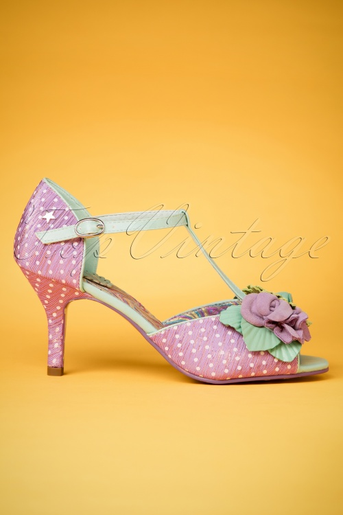 50s all things nice peeptoe pumps in lilac for Couture a nice