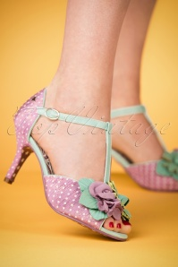 50s All Things Nice Peeptoe Pumps in Lilac