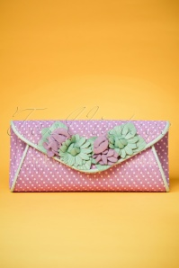 50s All Things Nice Clutch in Lilac
