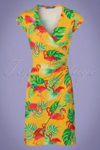 Lien & Giel Flamingo Yellow BA CAP Dress 100 89 22850 20180221 0002w