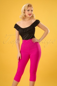 50s Tina Capri Pants in Hot Pink