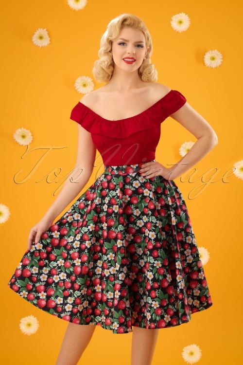 Bunny Strawberry Swing Skirt 122 14 24084 20180123 0015W(2)