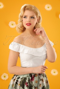 50s Rio Top in Ivory