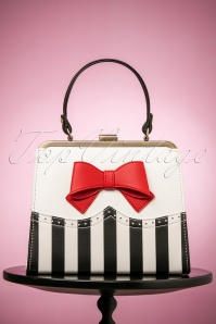 50s Inez Sweetheart Handbag in Black and White