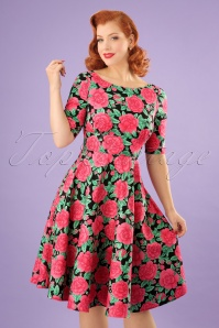 Bunny Roses Swing Dress 102 14 24046 01W