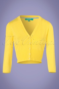 50s Mariel Cardigan in Yellow