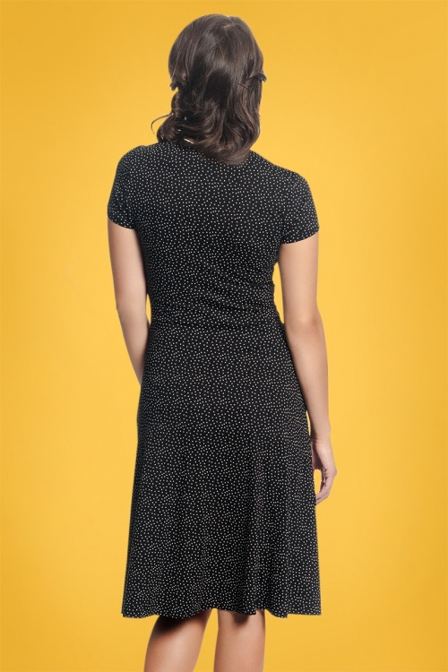 online retailer a4fd1 b2aee 60s Camille And Ville Dress in Black