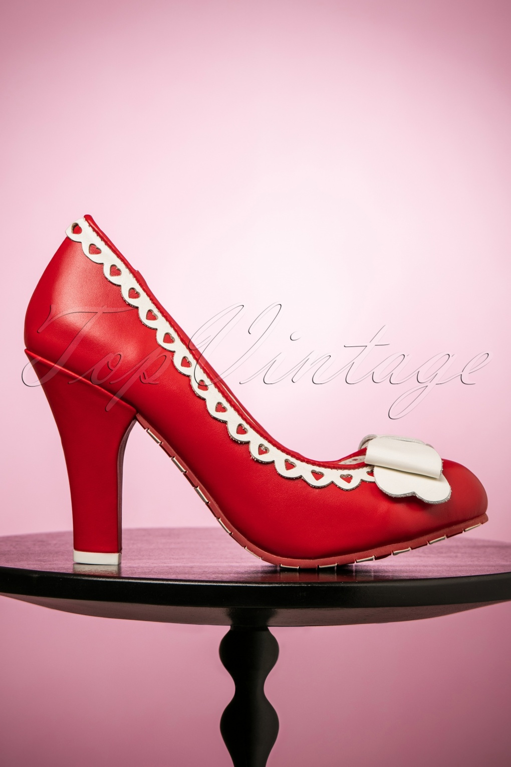 Pin Up Shoes- Heels & Flats 50s June Cheers Darling Leather Pumps in Red £142.52 AT vintagedancer.com