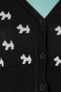 Mak Sweater Black and Ivory Doggies Cardigan 140 14 24948 20180222 0003