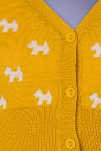 Mak Sweater Honey and Ivory Doggies Cardigan 140 89 24950 20180222 0004