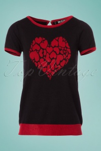 Mak Sweater Black and Red Heart Shirt 113 10 24925 20180222 0002W