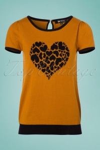 Mak Sweater Black and Orange Heart Shirt 113 80 24927 20180222 0006W