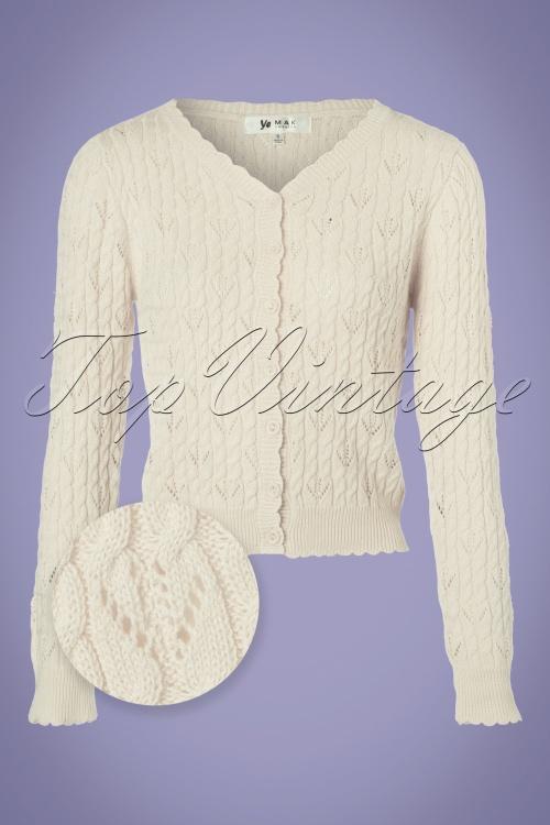 Mak Sweater Ivory Cardigan 140 50 24953 20180222 0004WV